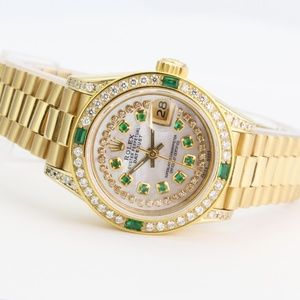 Rolex Datejust 69178 Gold Diamonds & Emeralds